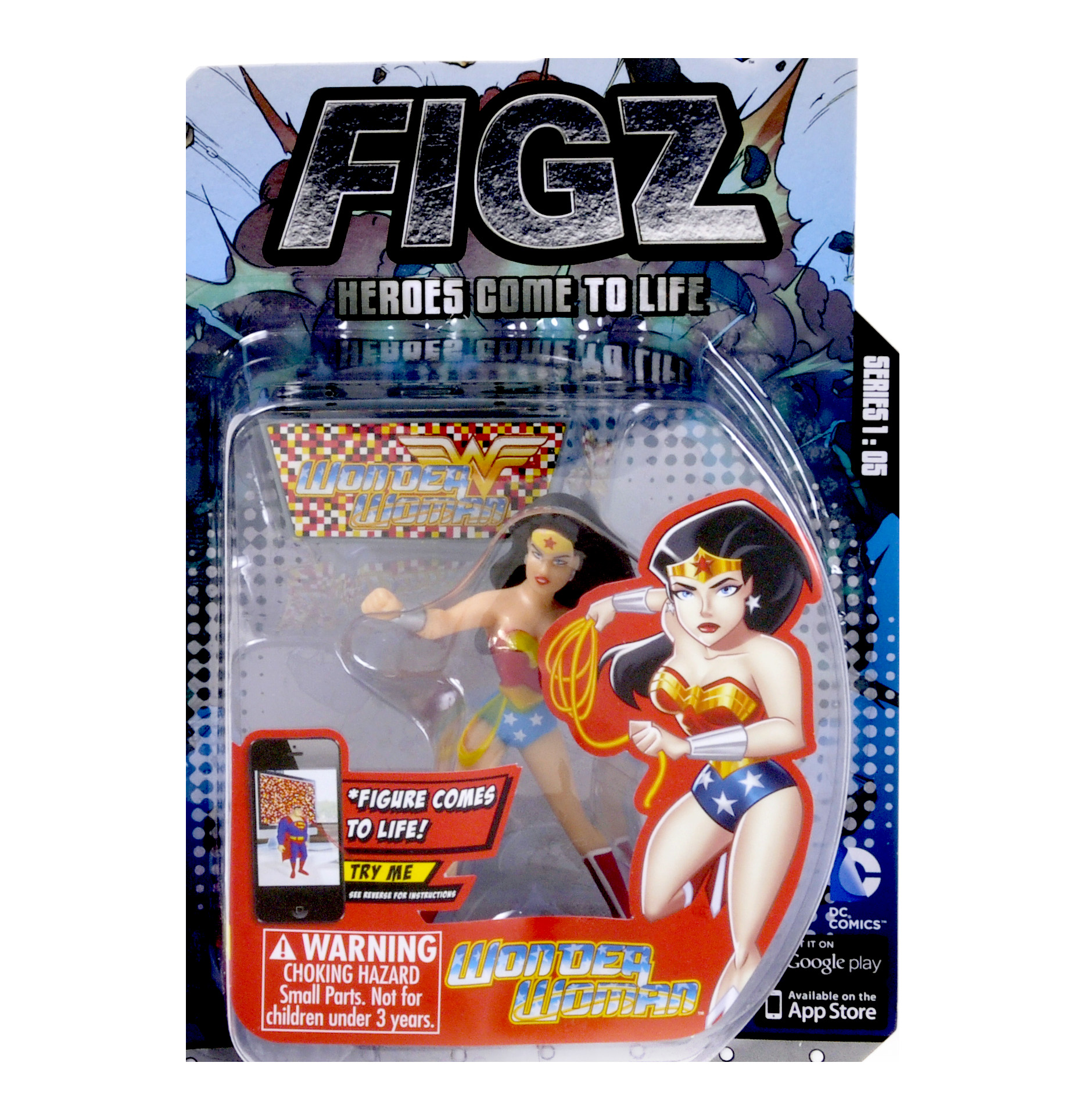 Wonder Woman Figz Justice League Apple & Android Action Figure - Comes to  Life with App!