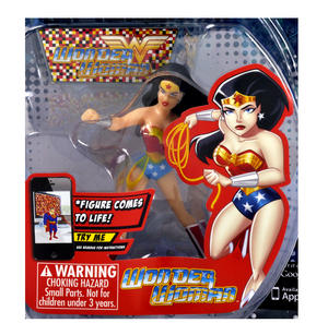 Wonder Woman Figz Justice League Apple & Android Action Figure - Comes to Life with App! Thumbnail 2