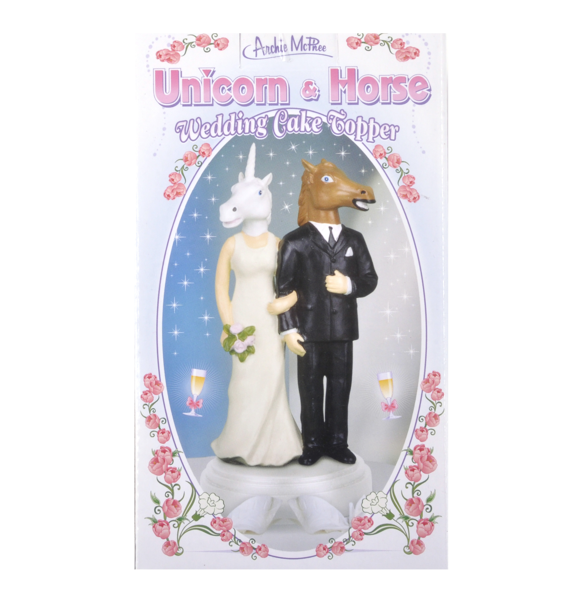 Unicorn and Horse Wedding Cake Topper | Pink Cat Shop