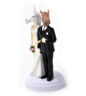 Unicorn and Horse Wedding Cake Topper Thumbnail 1