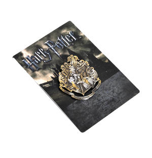 Harry Potter Replica Hogworts Badge / Brooch / Shield / Coat of Arms Gun Metal Pin Thumbnail 2