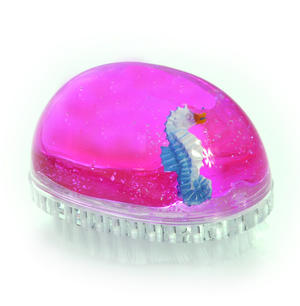 Seahorse Nail Brush - Pink Liquid in Transparent Acrylic