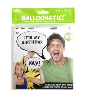 It's My Birthday / Yah! Double Sided Balloon - Balloontastic!