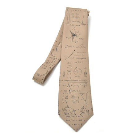 Mathematician Tie with Algebra / Equations Design