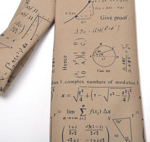 Mathematician Tie with Algebra / Equations Design Thumbnail 2