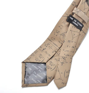 Mathematician Tie with Algebra / Equations Design Thumbnail 3