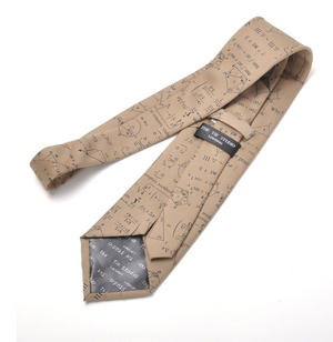 Mathematician Tie with Algebra / Equations Design Thumbnail 4