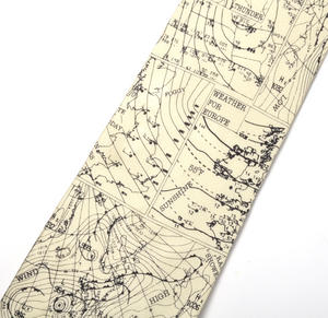 Meteorologist Silk Tie with Weather Maps Design Thumbnail 2