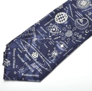 Nuclear Physicist Tie with Radioactivity and Atomic Design Thumbnail 2