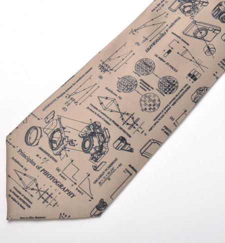 Photographer Tie with Camera and Lens Designs