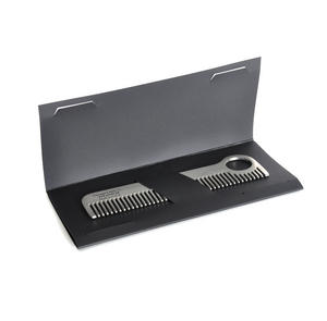 Beard Comb - Titanium Model No.1 - Moustache and Beard Grooming Tool Thumbnail 1