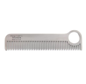 Beard Comb - Titanium Model No.1 - Moustache and Beard Grooming Tool Thumbnail 3