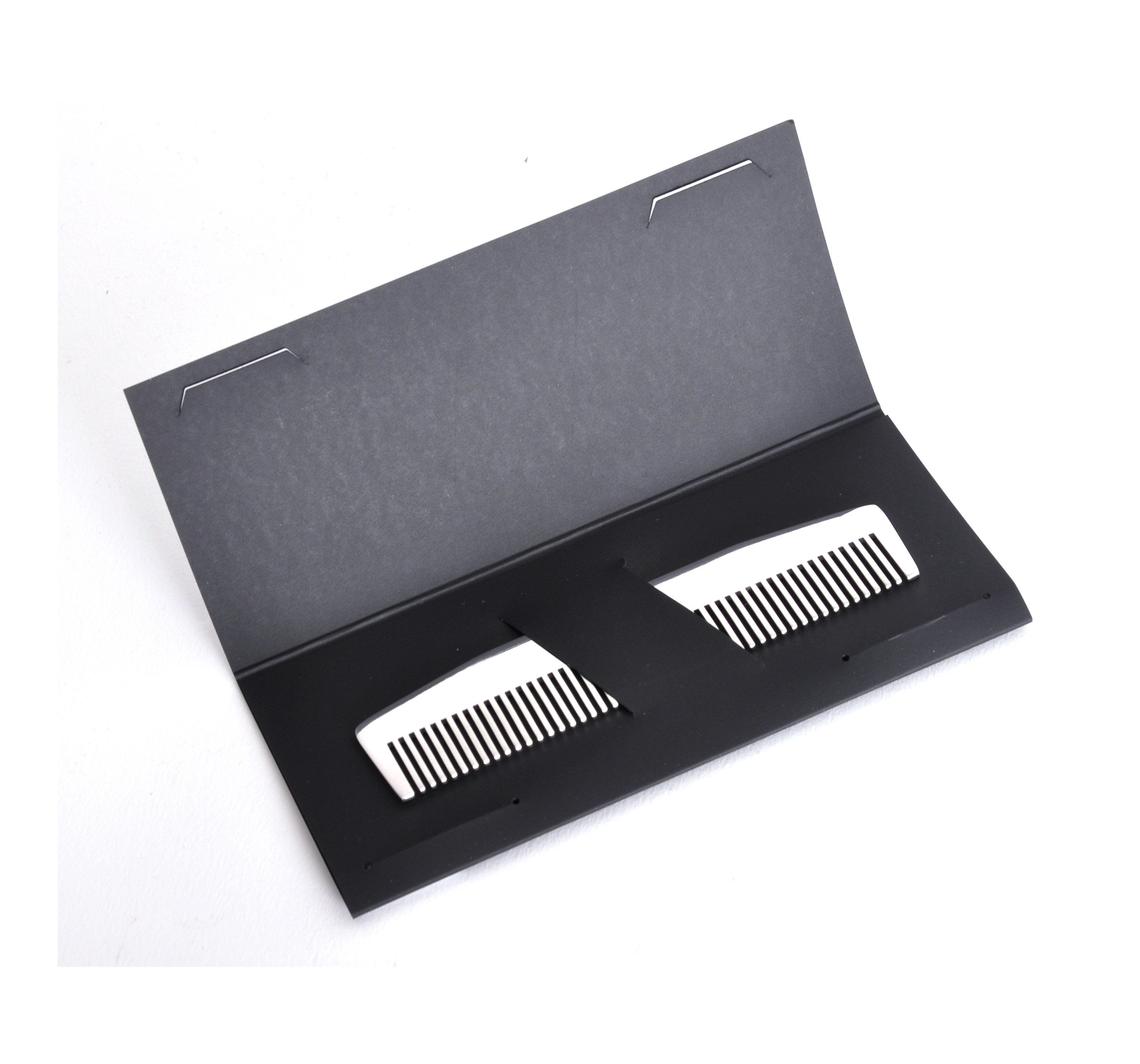 beard comb model no 3 mirror steel moustache and beard grooming tool ebay. Black Bedroom Furniture Sets. Home Design Ideas