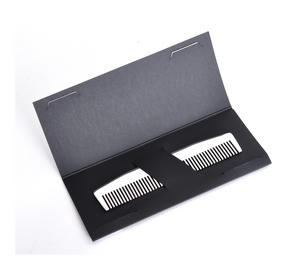 Beard Comb - Model No.3 - Mirror Steel Moustache and Beard Grooming Tool Thumbnail 1