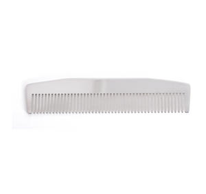 Beard Comb - Model No.3 - Mirror Steel Moustache and Beard Grooming Tool Thumbnail 2