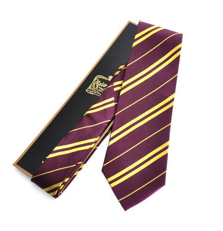 Harry Potter 100% Silk Gryffindor School Necktie in Madam Malkins Box