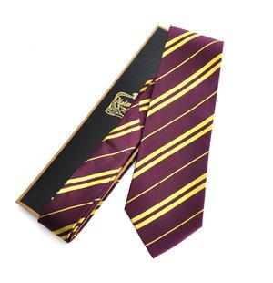 Harry Potter 100% Silk Gryffindor School Necktie in Madam Malkins Box Thumbnail 1