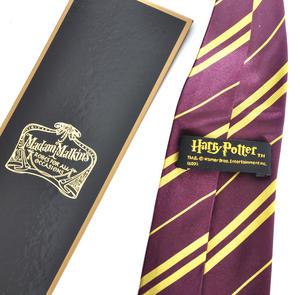 Harry Potter 100% Silk Gryffindor School Necktie in Madam Malkins Box Thumbnail 3