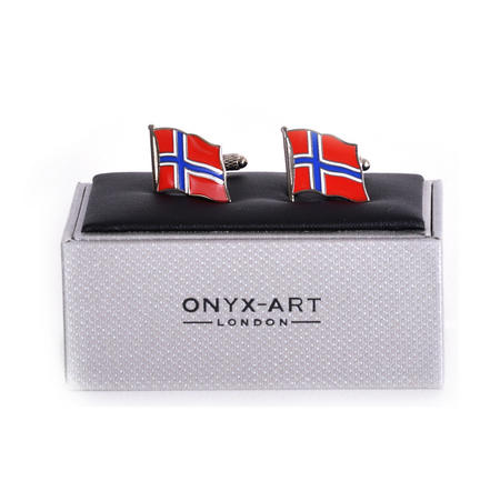 Cufflinks - Norway Flag - Norwegian Flying Flag