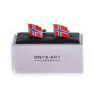 Cufflinks - Norway Flag - Norwegian Flying Flag Thumbnail 1