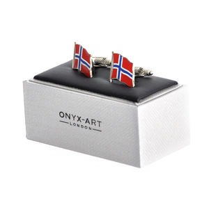 Cufflinks - Norway Flag - Norwegian Flying Flag Thumbnail 2
