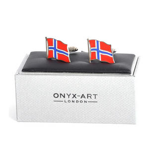 Cufflinks - Norway Flag - Norwegian Flying Flag Thumbnail 3