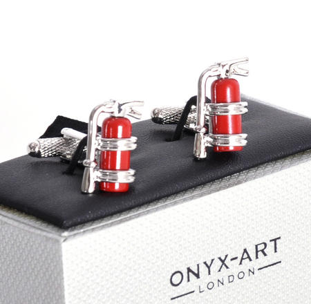 Cufflinks - Fire Extinguishers Flag for Fire Fighters