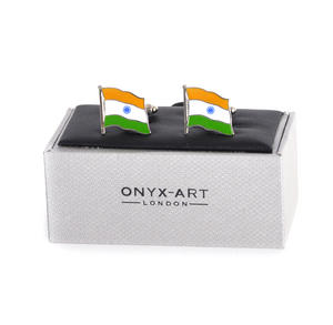 Cufflinks - India Flag - Indian Flying Flag Thumbnail 2
