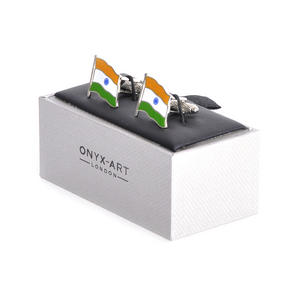 Cufflinks - India Flag - Indian Flying Flag Thumbnail 3