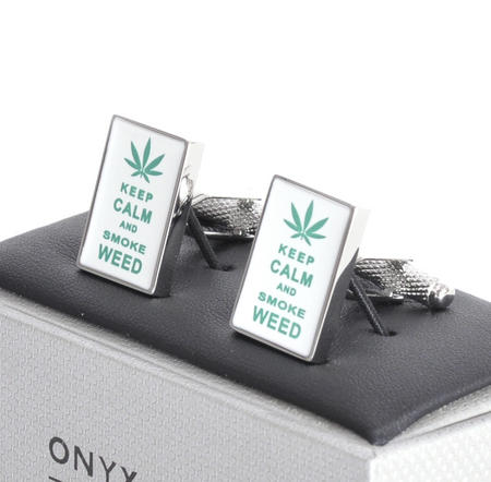 Cufflinks - Keep Calm and Smoke Weed