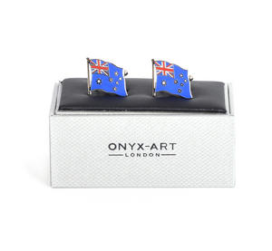 Cufflinks - Australia Flag - Australian Flying Flag Thumbnail 1