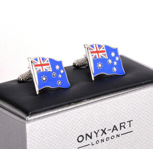 Cufflinks - Australia Flag - Australian Flying Flag Thumbnail 3