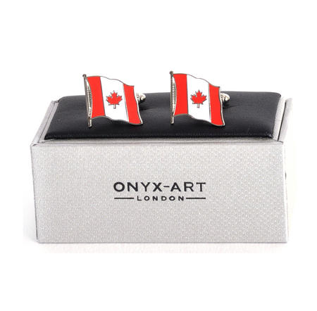 Cufflinks - Canada Flag - Canadian Flying Flag