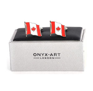 Cufflinks - Canada Flag - Canadian Flying Flag Thumbnail 1