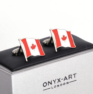 Cufflinks - Canada Flag - Canadian Flying Flag Thumbnail 3