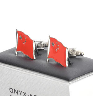 Cufflinks - China Flag - Chinese Flying Flag Thumbnail 3