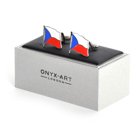 Cufflinks - Czech Flag - Czech Flying Flag