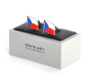 Cufflinks - Czech Flag - Czech Flying Flag Thumbnail 1