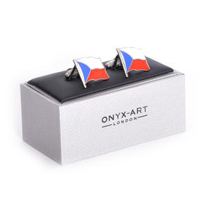 Cufflinks - Czech Flag - Czech Flying Flag Thumbnail 2