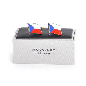 Cufflinks - Czech Flag - Czech Flying Flag Thumbnail 3
