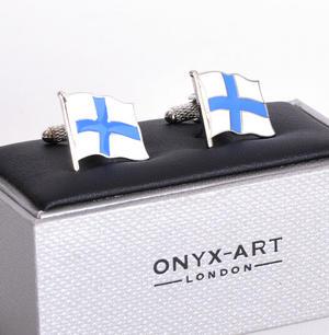 Cufflinks - Finland Flag - Finnish Flying Flag Thumbnail 2