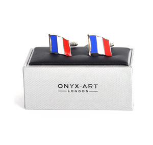 Cufflinks - France Flag - French Flying Flag Thumbnail 1