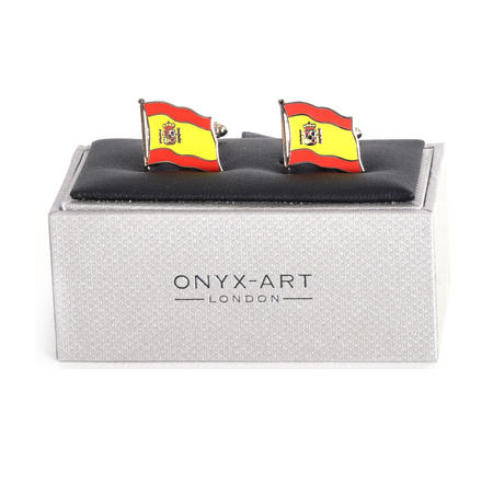 Cufflinks - Spain Flag - Spanish Flying Flag