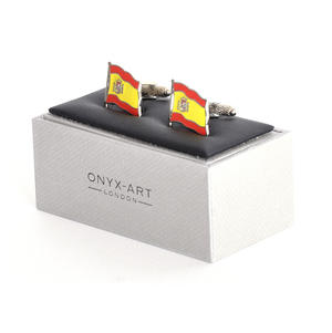 Cufflinks - Spain Flag - Spanish Flying Flag Thumbnail 2