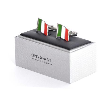 Cufflinks - Italy Flag - Italian Flying Flag