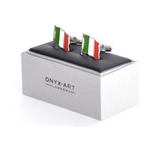 Cufflinks - Italy Flag - Italian Flying Flag Thumbnail 1