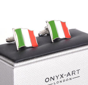 Cufflinks - Italy Flag - Italian Flying Flag Thumbnail 2