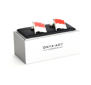 Cufflinks - Monaco Flag - Monte Carlo Flying Flag Thumbnail 1