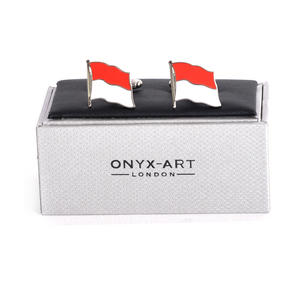Cufflinks - Monaco Flag - Monte Carlo Flying Flag Thumbnail 2