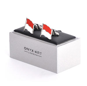 Cufflinks - Monaco Flag - Monte Carlo Flying Flag Thumbnail 3